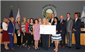 Anaheim Public Library Foundation Board check presentation for the eBook program