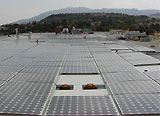 Anaheim Police Department East location roof top with solar panels
