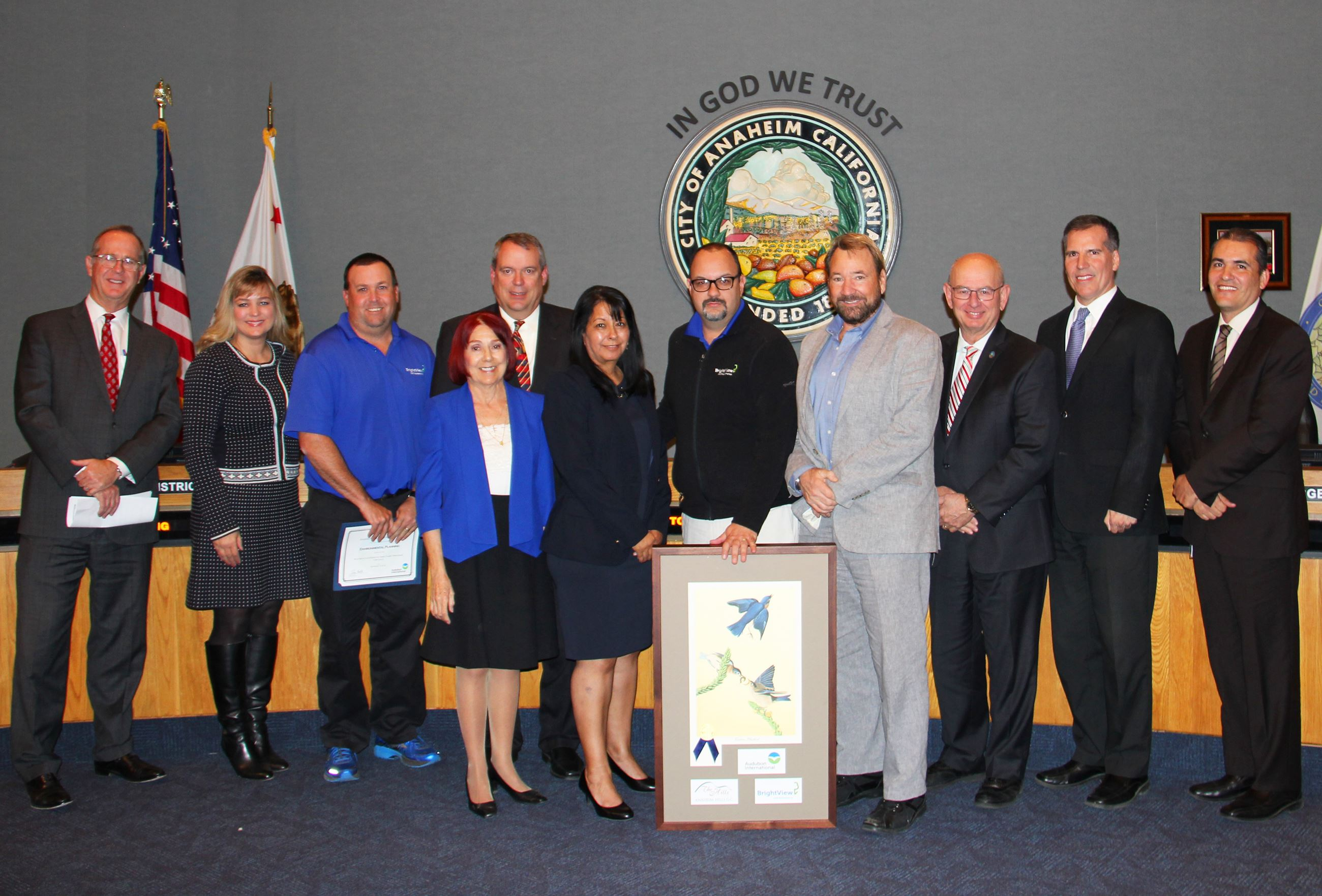 Anaheim Hills Golf Course designation as a Certified Audubon Cooperative Sanctuary