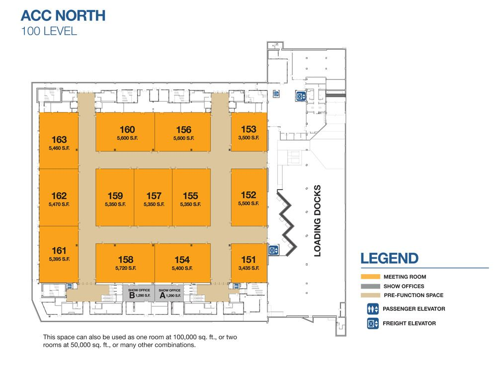 ACC North 100 Level Diagram
