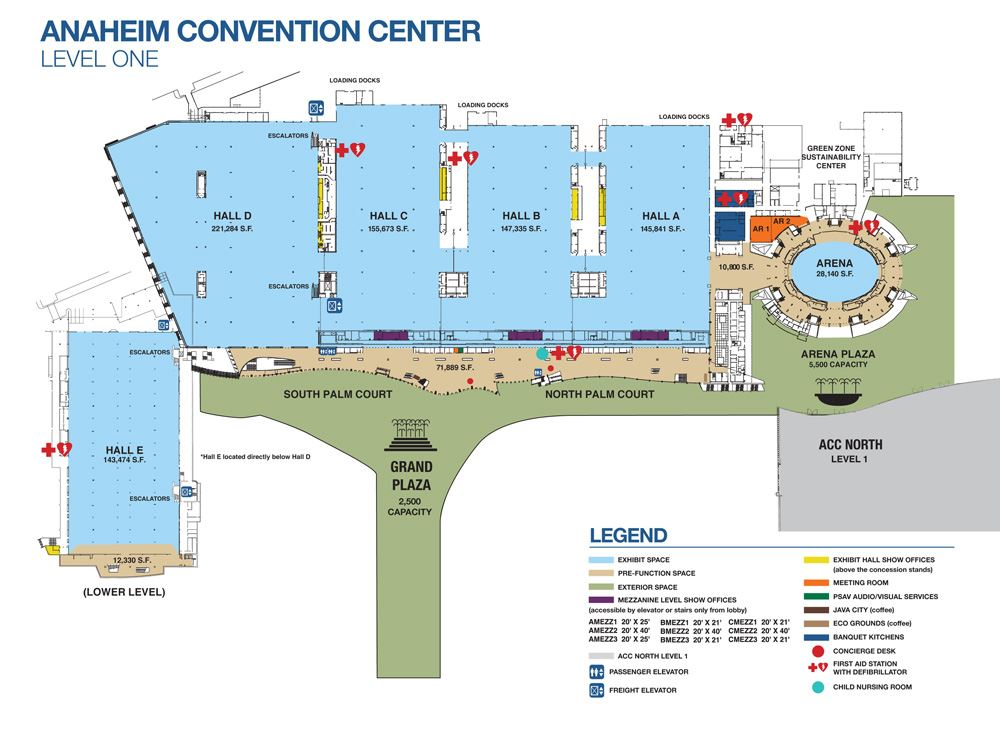 Convention Center Level One 2018