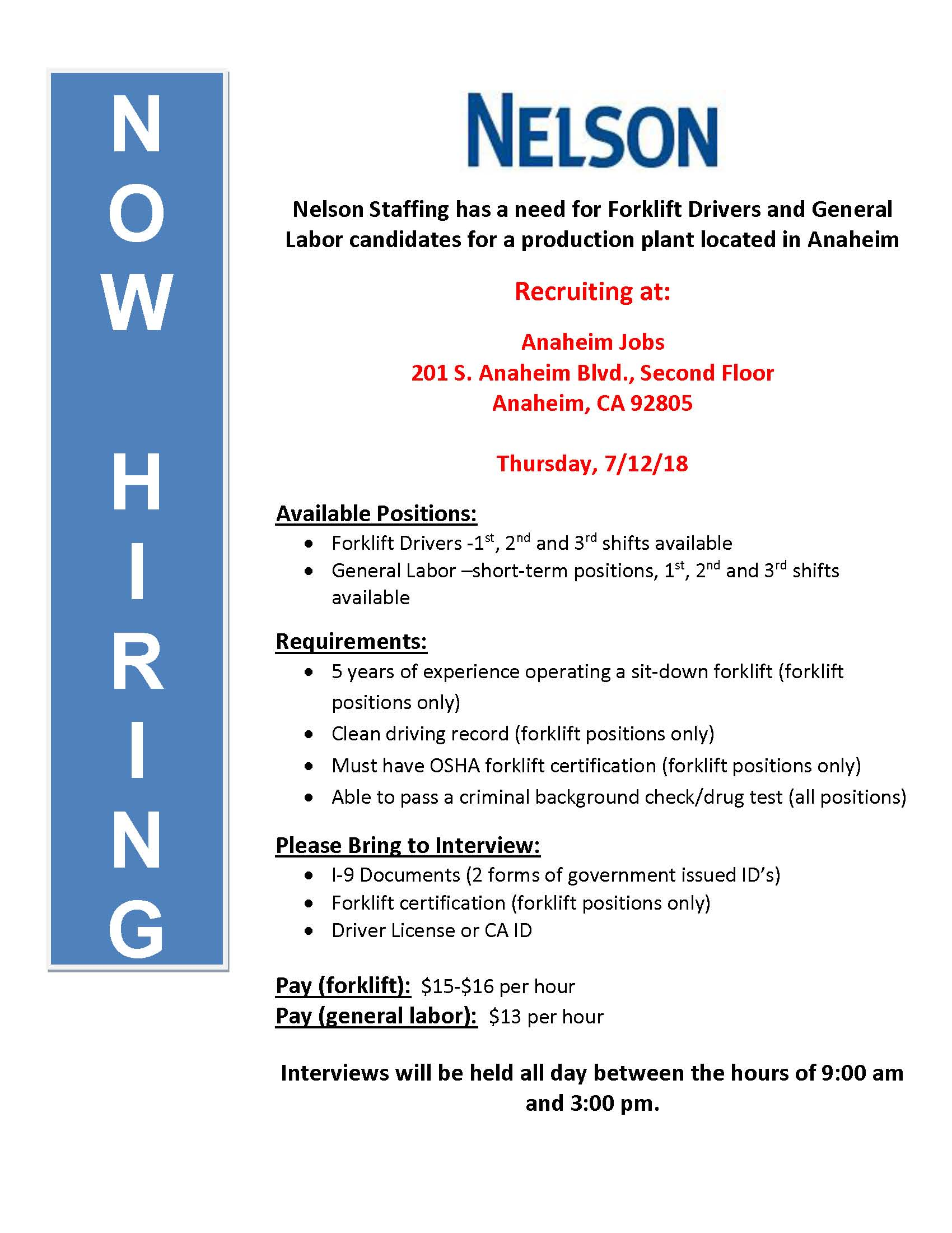 Nelson Recruiting Event Flyer 7-12-18