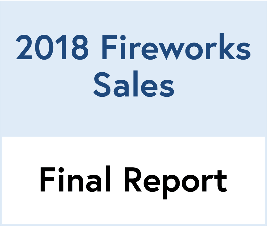 2018 fireworks sales report
