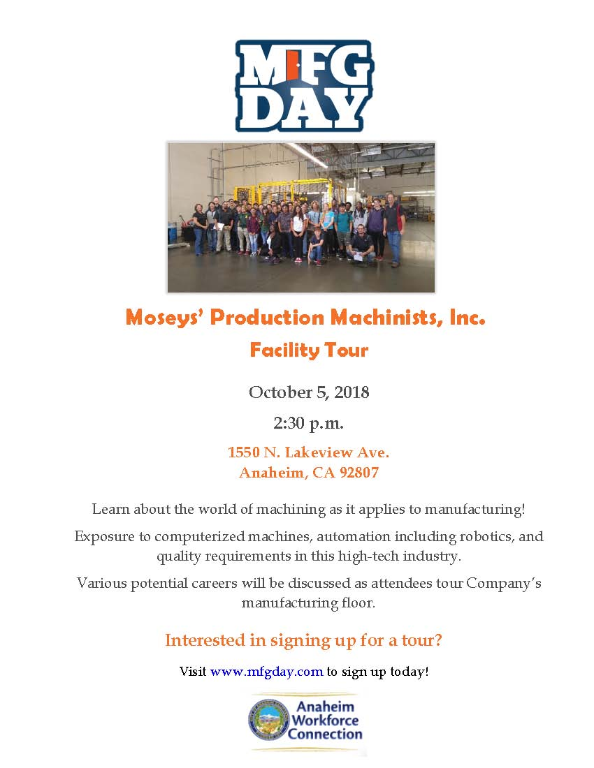 Mosey's Manufacturing Day Tour
