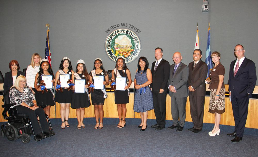 Recognizing Miss Anaheim Beautiful and Court 2018-2019