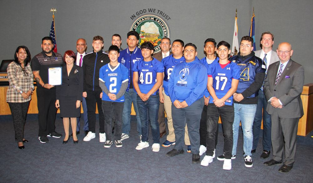 Recognizing Western High School Football for CIF Southern Section Division 11 Championship