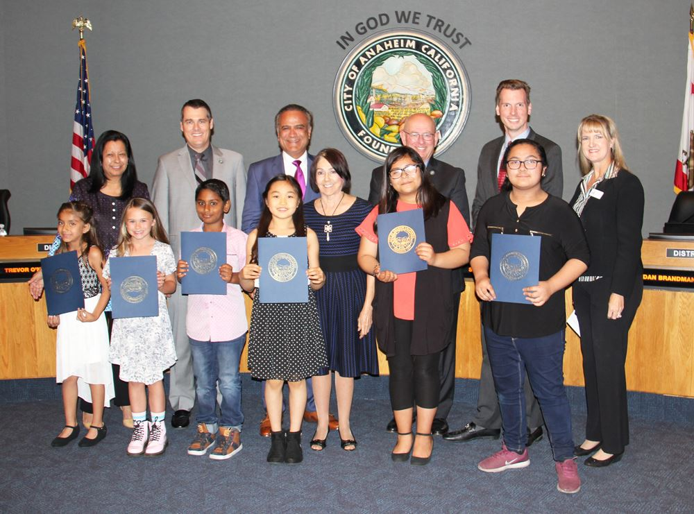 Recognizing winners of the Citywide Community Pride Poster Contest
