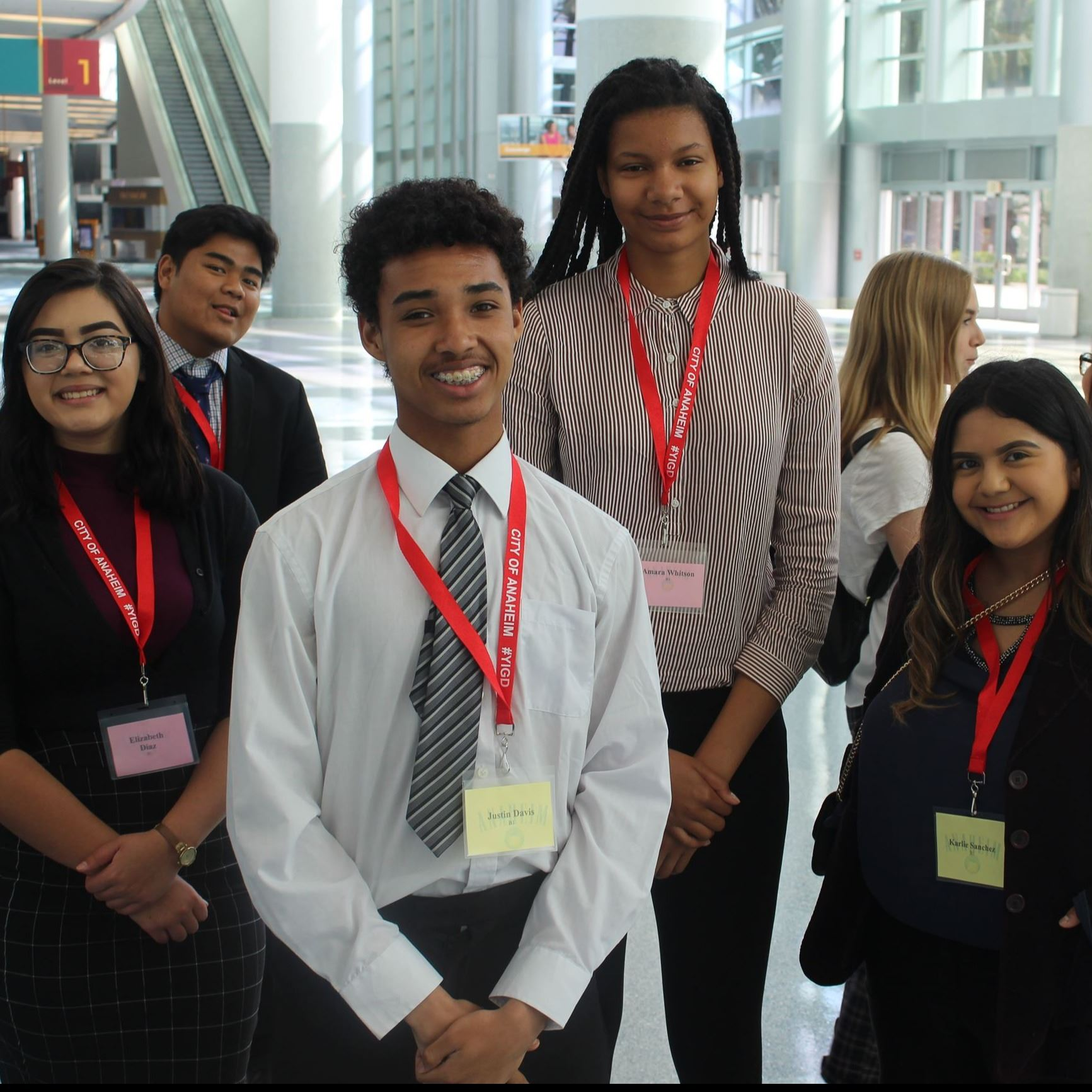 Image of several high school students at youth in government day