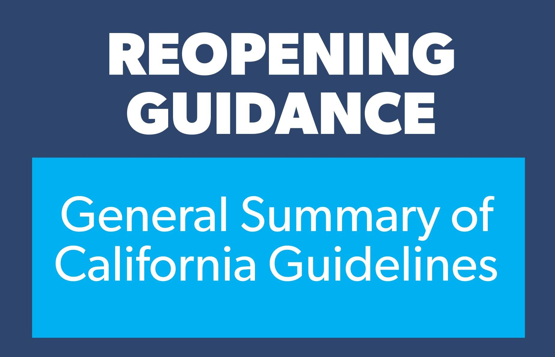 Guidance summary