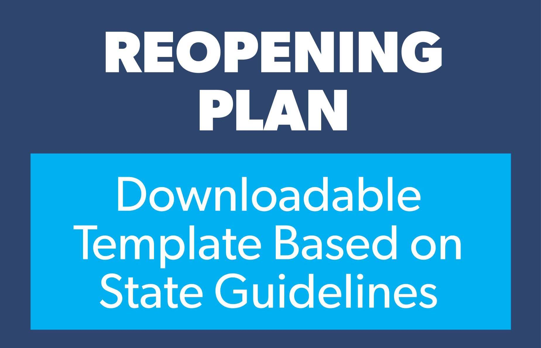 Reopening plan template