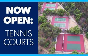 Tennis courts open