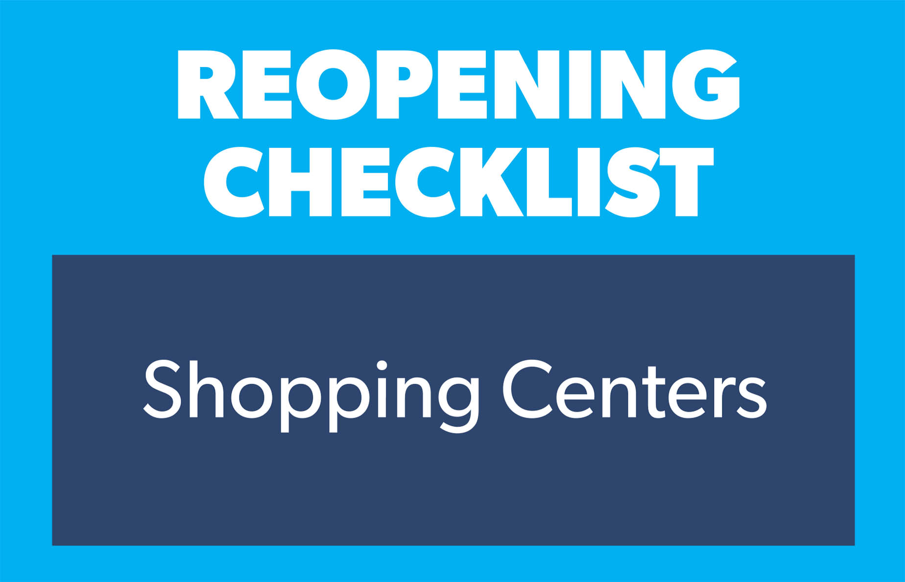 checklist shopping centers