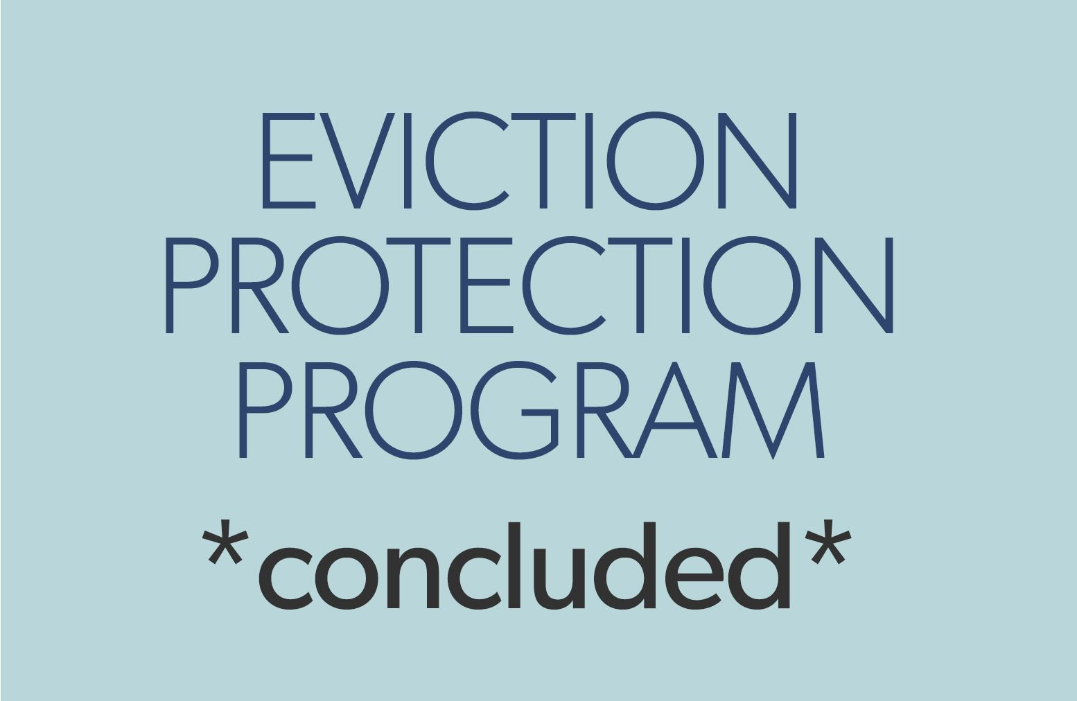 eviction protection program concluded