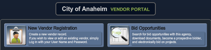 vendor portal screenshot