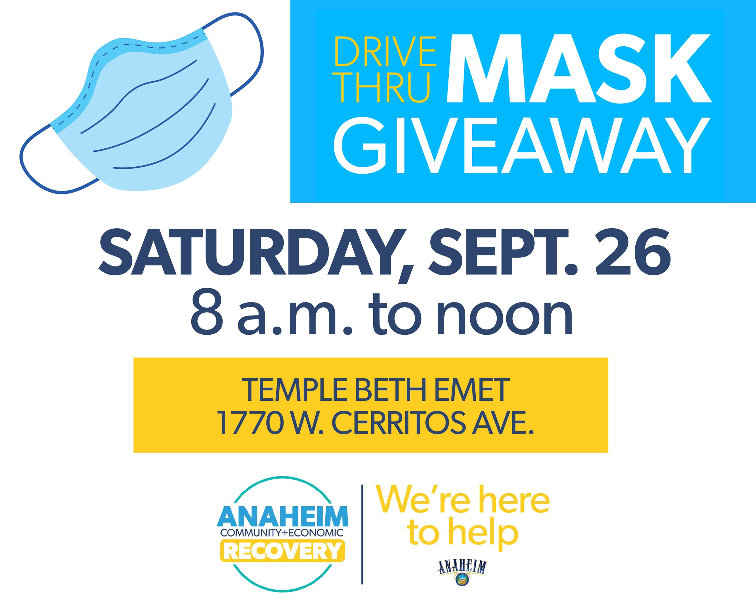 mask giveaway graphic sept 26 Opens in new window