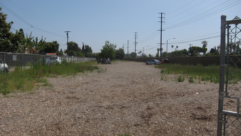 Empty lot with gravel