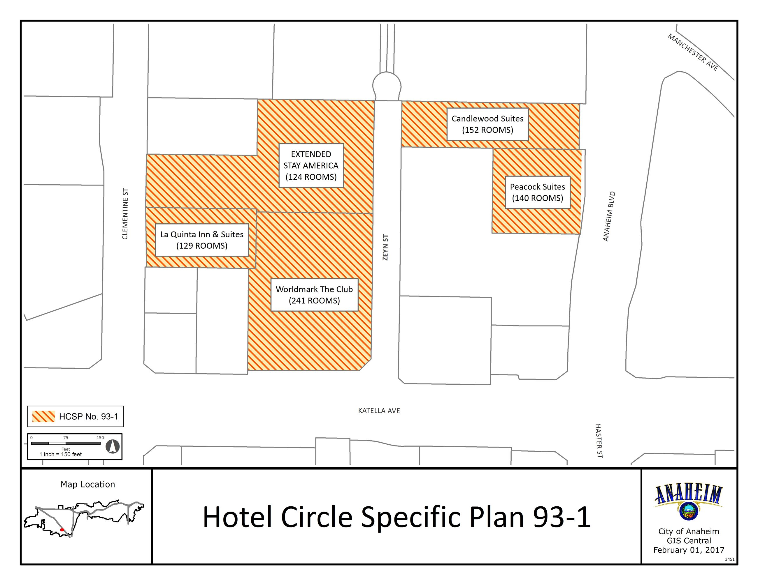 Hotel Circle Specific Plan 93-1 Map Image