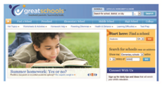 Screen Shot of the GreatSchools Website