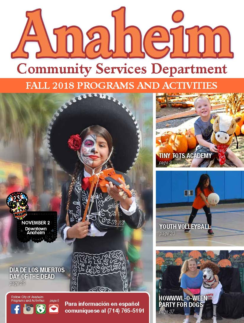 2018 Fall Activity Guide Cover
