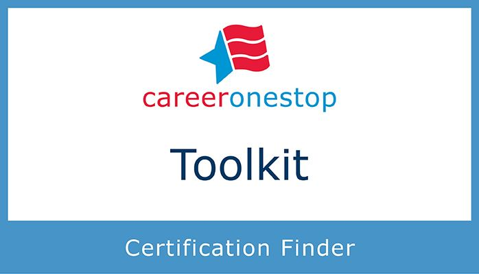 Career One Stop Certificate Finder