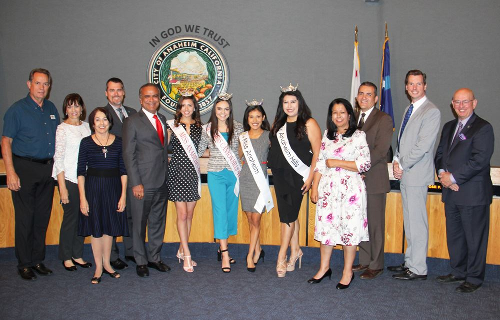 Recognizing the 2019 Miss Anaheim Court