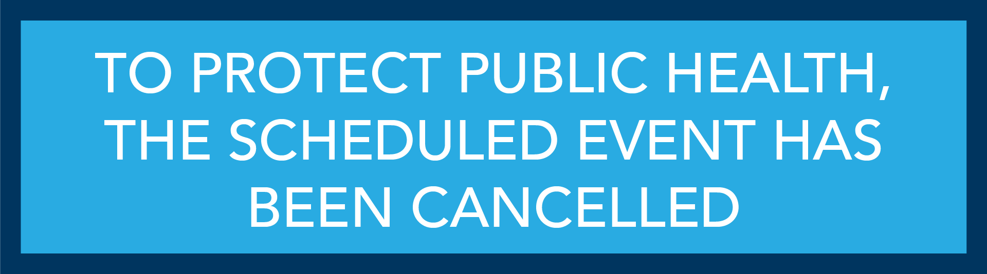 Workshops and Contests Have Been Cancelled