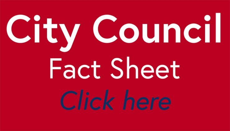 City Council fact sheet tile red