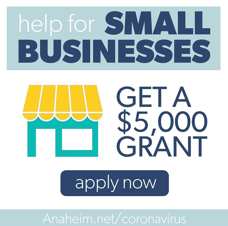 Anaheim Small Business Relief Grant - 2021