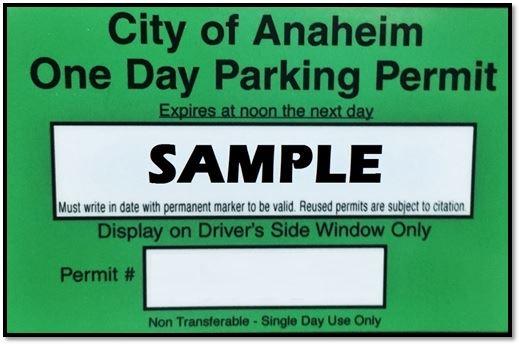 Residential Permit Parking Anaheim Ca Official Website